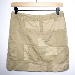 J Crew Chinos Size 2 Patchwork A-Line Skirt
